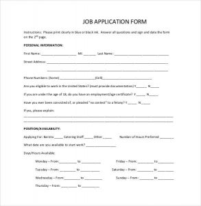 simple employment application simple job application form in pdf