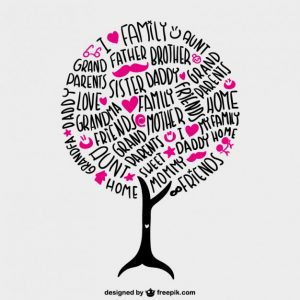 simple family tree template family tree vector lettering