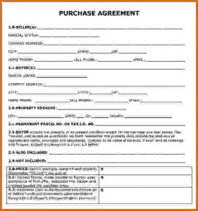 Simple Home Purchase Agreement | Template Business