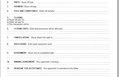simple land purchase agreement form purchase contract