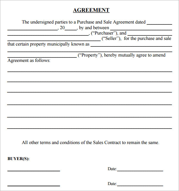 simple land purchase agreement form