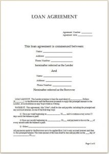 Simple Loan Agreement Personal Loan Agreement Template For Doc  Loan Agreement Doc