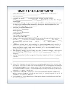 simple loan agreement download simple loan agreement template pdf rtf