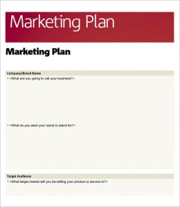 simple marketing plan basic marketing plan template