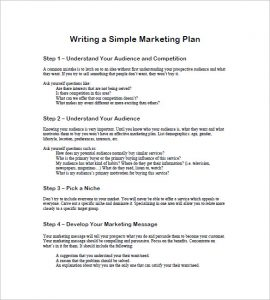 simple marketing plan free simple marketing plan template
