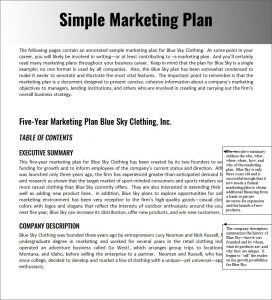 simple marketing plan marketing strategy planning template pdf word documents throughout simple marketing plan template