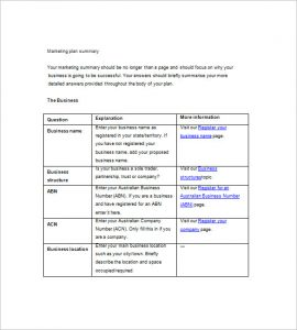simple marketing plan simple marketing plan template word