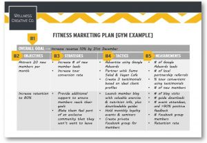 simple marketing plan template gym marketing plan pdf sample x