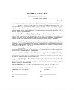 simple non disclosure agreement basic personal non disclosure agreement example