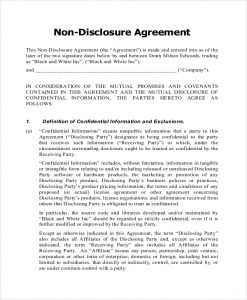 simple non disclosure agreement pdf document for non disclosure agreement