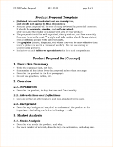 simple one page business plan template page business proposal
