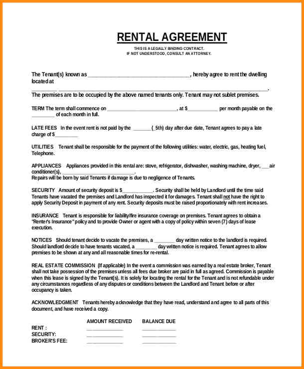 Simple Commercial Lease Agreement Gallery  Agreement Letter Format