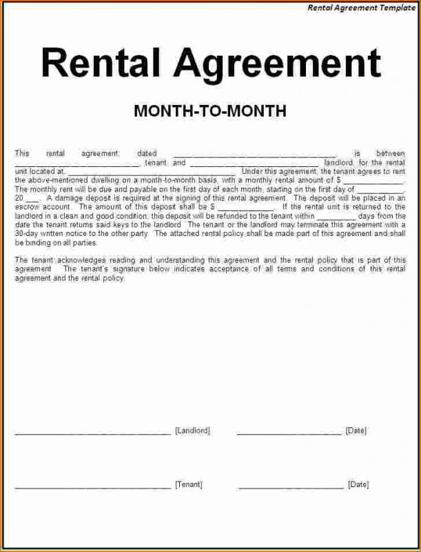 Simple one page lease agreement template business for Residential lease for apartment or unit in multi family