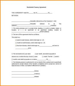 simple one page lease agreement simple one page rental agreement rental application template