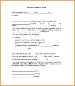 simple rental application template