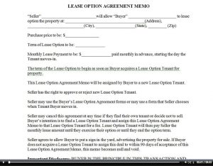 simple one page rental agreement aleaseoptionmemo