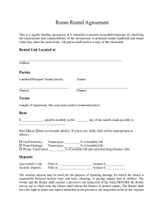 simple one page rental agreement room rental agreement