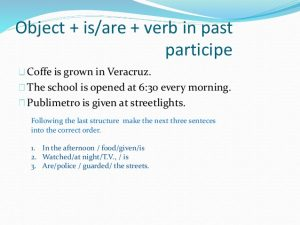 simple order form passive voice in simple present