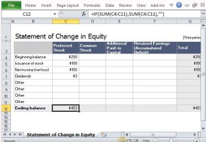 simple personal financial statement make use of built in formula to get accurate results