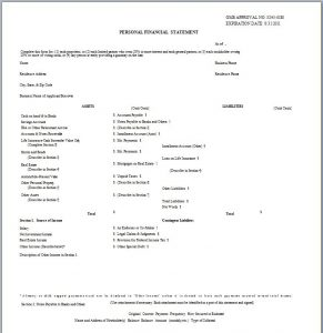 simple personal financial statement personal financial statement template