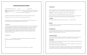 simple photography contract employment agreement template
