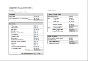 simple profit and loss statement sheets free printable yearly or monthly income statement template sample for ms excel x