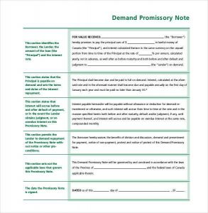 simple promissory note no interest simple demand promissory note free download