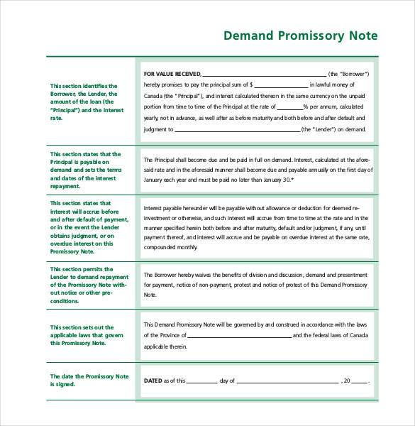 Simple Promissory Note No Interest  Basic Promissory Note