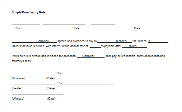 Nice Simple Promissory Note Ideas Promissory Note Simple