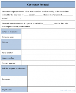 simple proposal template construction proposal template word contractor proposal form