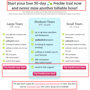 simple proposal template freckle pricing