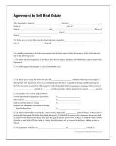 simple purchase agreement template lf