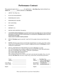 simple purchase agreement template performance contract
