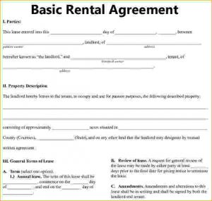 simple rental agreement basic residential lease agreement bais rental agreement 1