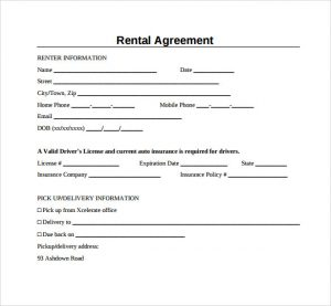 simple rental agreement form simple generic rental agreement