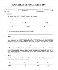 simple rental agreement form simple rental lease agreement