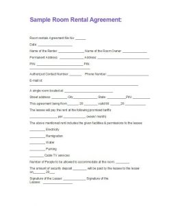 simple rental agreement month to month rental application template