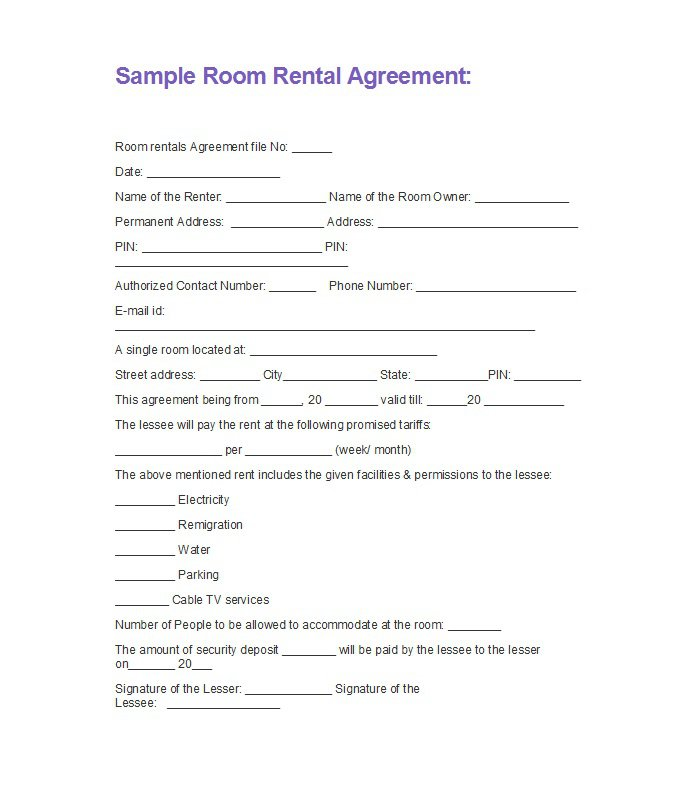 simple rental agreement month to month template business. Black Bedroom Furniture Sets. Home Design Ideas