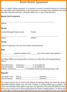 simple rental agreement month to month simple room rental agreement form room rental agreement