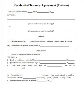 simple rental agreement simple residential rental agreement