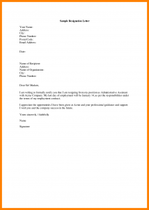 simple resignation letter simple resignation letter sample 7