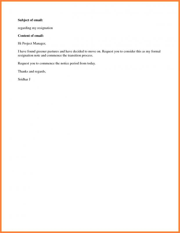 simple letter of resignation simple resignation letter template business 24862