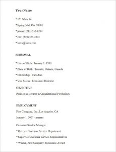 simple resume examples simple resume template sample