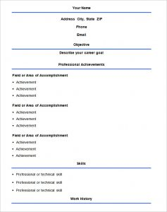 simple resume format basic format resume templat