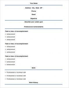 simple resume format basic format resume templat