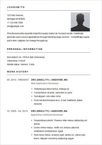 simple resume format basic resume template for app developer