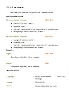 simple resume format free simpl basic resume template