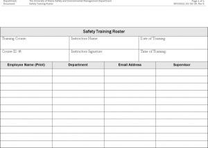 simple resume format pdf safety training roster template