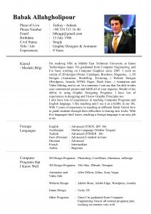 simple resume layout englishcv page
