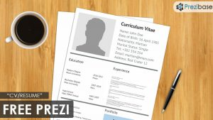 simple resume layout free cv resume prezi template on desk